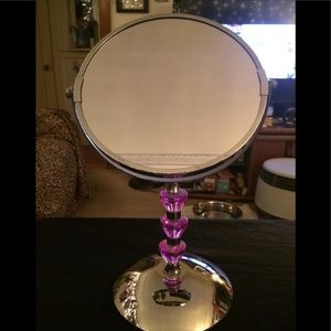 Makeup dual side stand mirror
